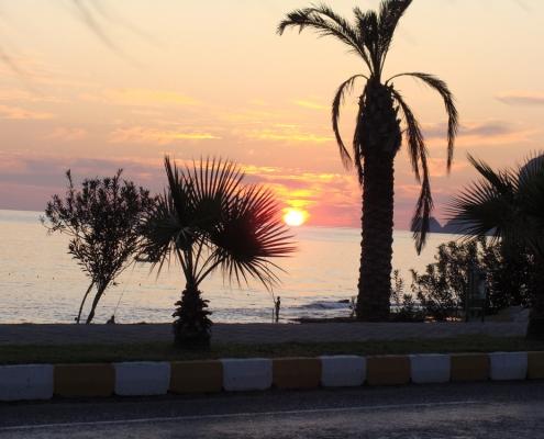 Solnedgang i Alanya