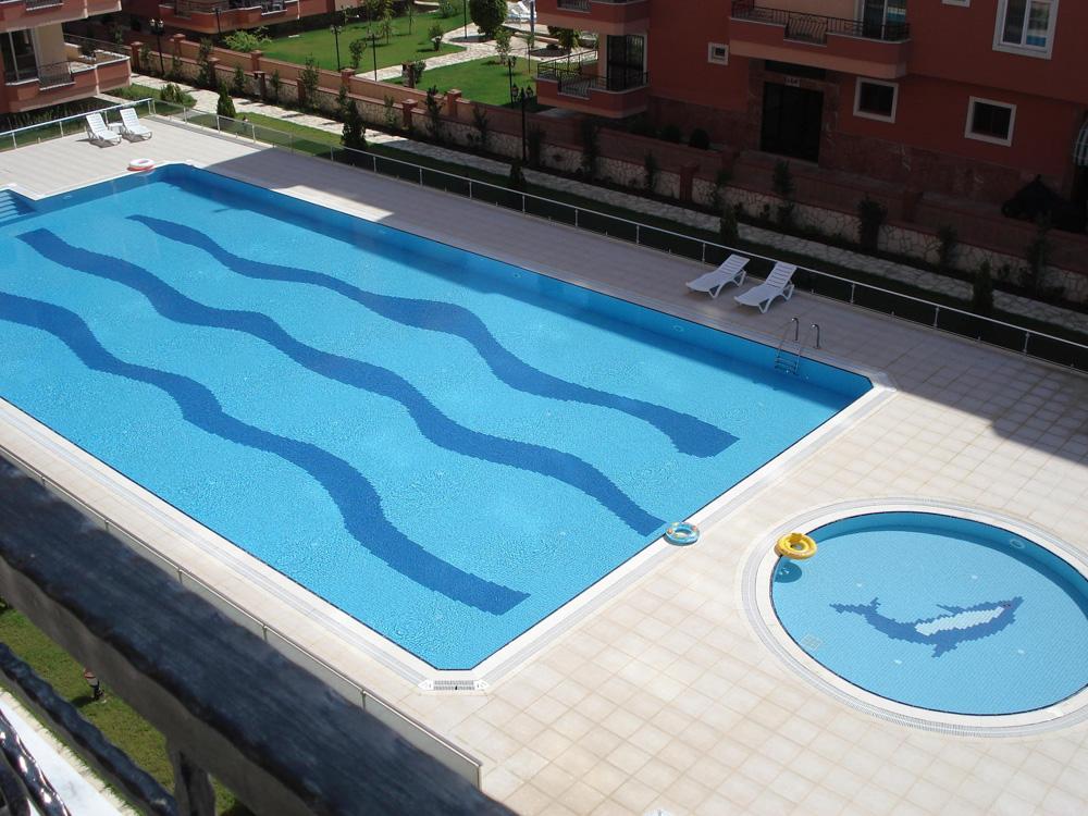 Poolområde til ferielejligheden i Alanya Tyrkiet