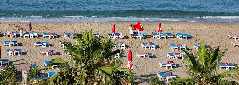 Stranden i Alanya Tyrkiet