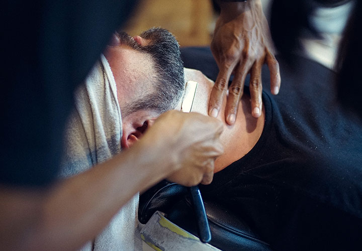 Herre barbering old school i Alanya Tyrkiet