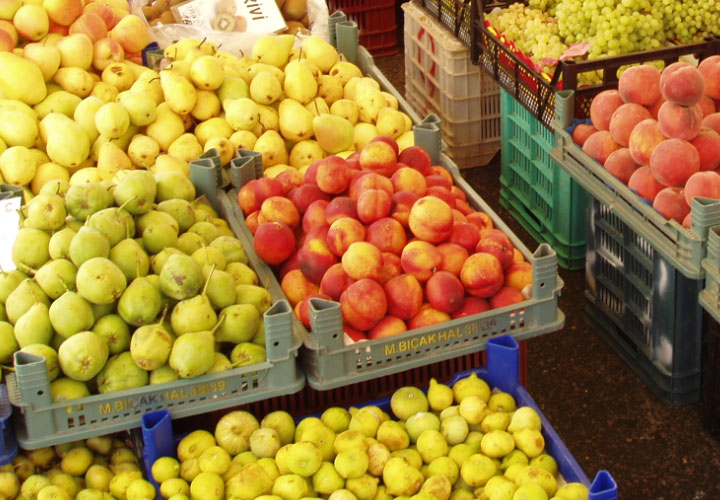 Frugt på markedet i Alanya
